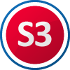 S3 Schutzklasse nach EN ISO 20345 - Sicherheitsschuhe mit Zehenkappe für hohe Belastungen, deren Schutzwirkung gegen Stoßeinwirkung mit einer Prüfenergie von mindestens 200 Joule und gegen Druck bei einer Druckbeanspruchung von mindestens 1500 Newton geprüft wird. S3 Sicherheitsschuhe mit Zehenkappe und Durchtrittschutz, wasserabweisende Eigenschaften und Profilsohle Einsatzgebiet: NASSBEREICH