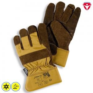 Tempex Kommissionierer Handschuhe mit Lederstulpe