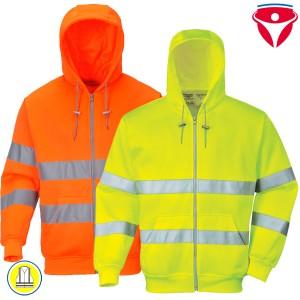 Warnschutz Kapuzen Sweatjacke B305