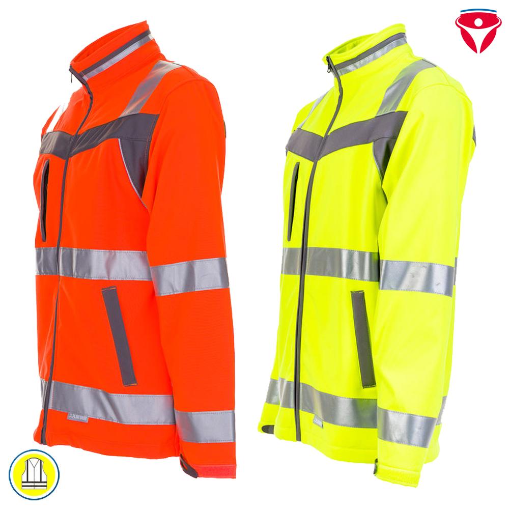 Planam Plaline Warnschutz Herren Jacke Softshelljacke Warnschutzjacke Workwear