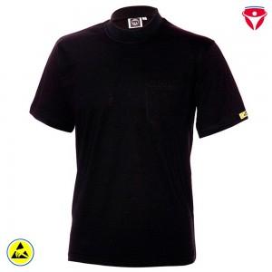 ESD T-Shirt hochleitfähig | schwarz