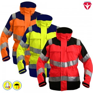 HB Hi-Vision Basic Warnschutz Jacke Klasse 3 gelb | dunkelblau - 2007 / 54/56 | L
