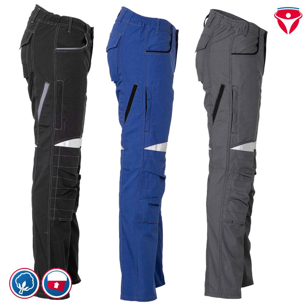 Planam Durawork Bundhose Reflexbiesen Arbeitshose sehr bequem viele Taschen