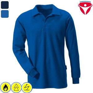 Rofa 115 Polo-Shirt flammhemmendes, antistatisches Shirt mit Schutz vor Störlichtbogen