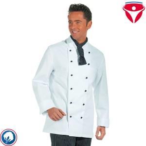 Leiber 12/5510 günstige Kochjacke aus Baumwolle für Damen und Herren