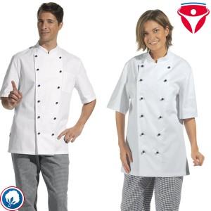 Leiber 12/5950 leichte Kochjacke 1/2 Arm mit Brusttasche für Damen und Herren