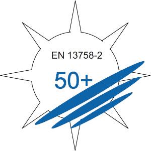 DIN EN 13758 | Schutzeigenschaften Faktor 50+ gegen ultraviolette Sonnenstrahlung