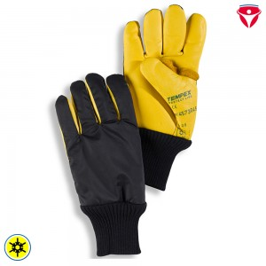 Kommissionierer Handschuhe Tempex | Leder + Strickstulpe