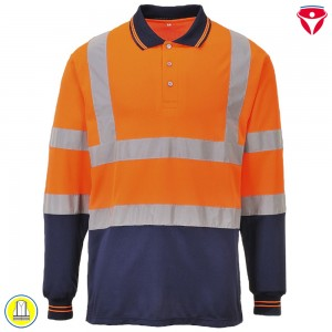 Warnschutz Polo Shirt Langarm S279