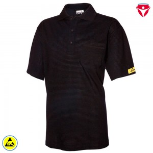 ESD Polo-Shirt hochleitfähig | schwarz