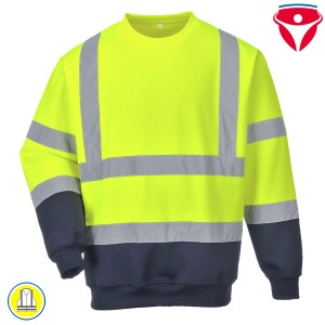 Warnschutz Sweatshirt Two Tone B306